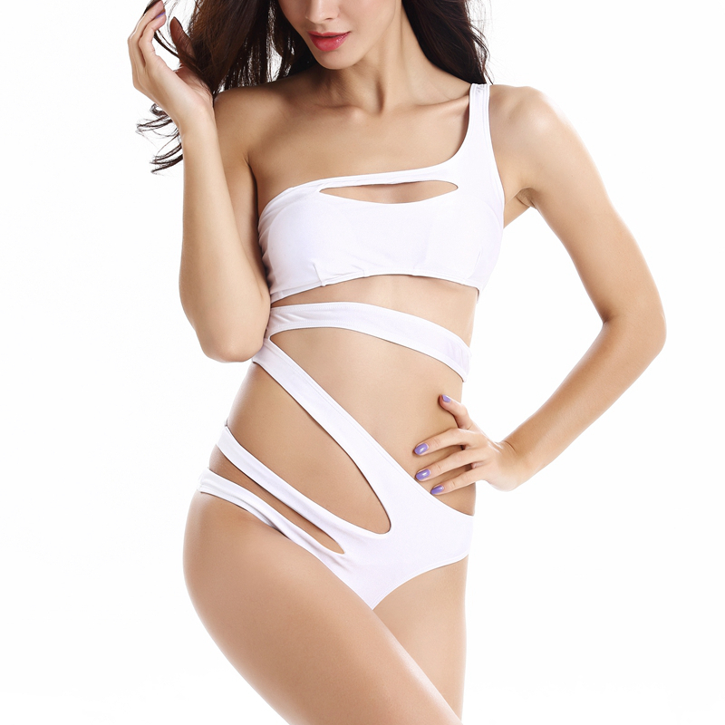 Bandage Swimsuit 2015 Sexy One Piece Swimsuit Women Vintage Swimwear Women One Piece Swimwear Black White Beachwear #706