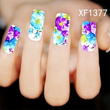 NEW Decorations Nails Sticker Casual Blue Purple DIY Designs Water Transfer Decals Wraps Nail Art Stickers Polish Styling Tools