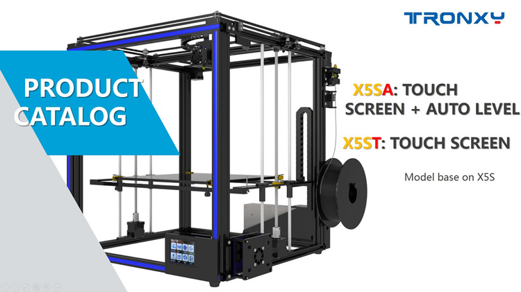 New arrival X5SA Tronxy auto level large 330*330*400 diy assembled 3d printer kit touch screen