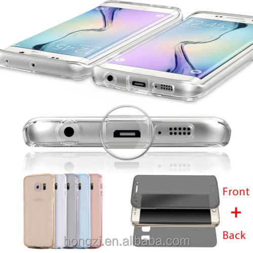 For Samsung Galaxy A3 A5 A7 J5 J7 2016 J1 J3 Grand Prime S4 S5 S6 S7 Edge Case Soft TPU 360 Full body Clear back Cover Cases bag