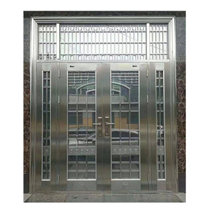 Apartment Front Main Gate Stainless Steel Single Grill Door Design Safety Single Stainless Steel Door Design