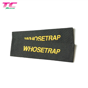 Wholesale Custom End Fold Woven Garment Label Tags HD Damask Woven Label Tag For Clothing