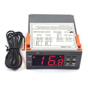 Digital AC 110-220V 10A thermostat STC-1000 Two Relay Output STC 1000 Temperature Controller for Incubator