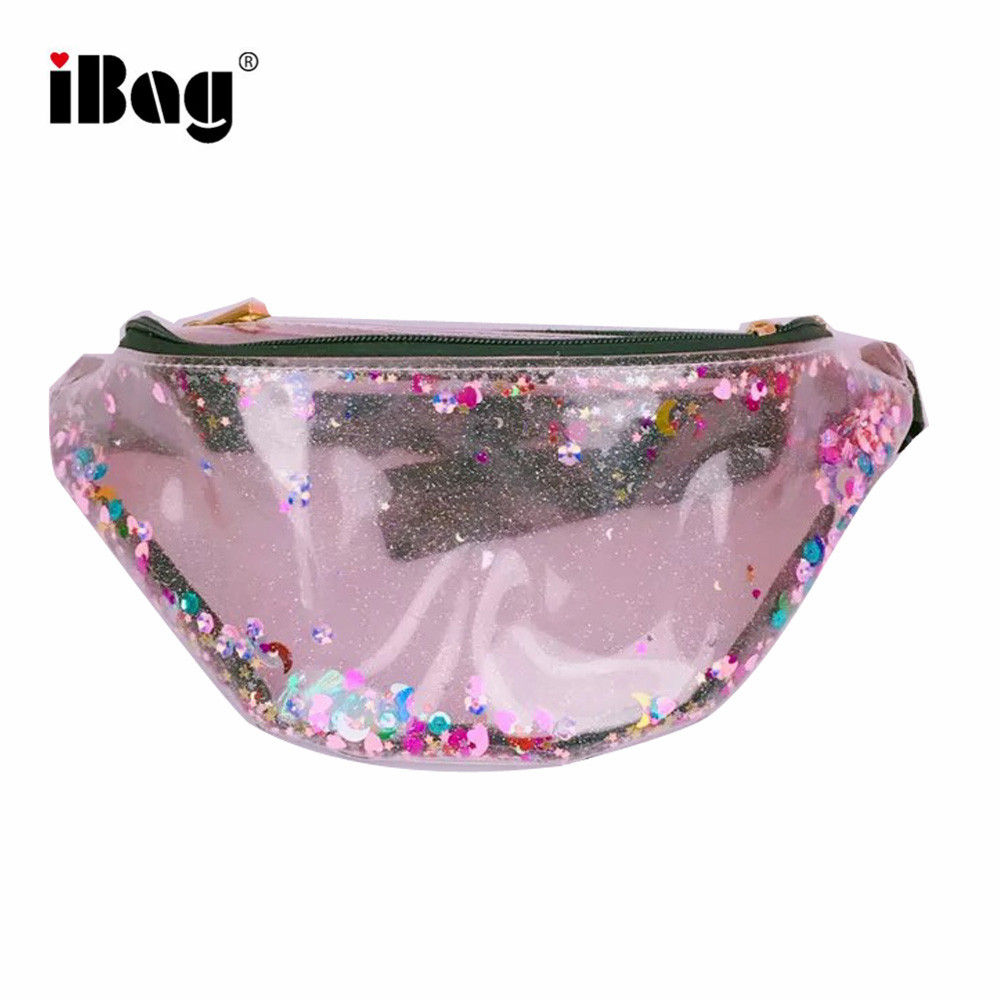 Fashion Mermaid Waterproof Glitter Rainbow Fanny Pack