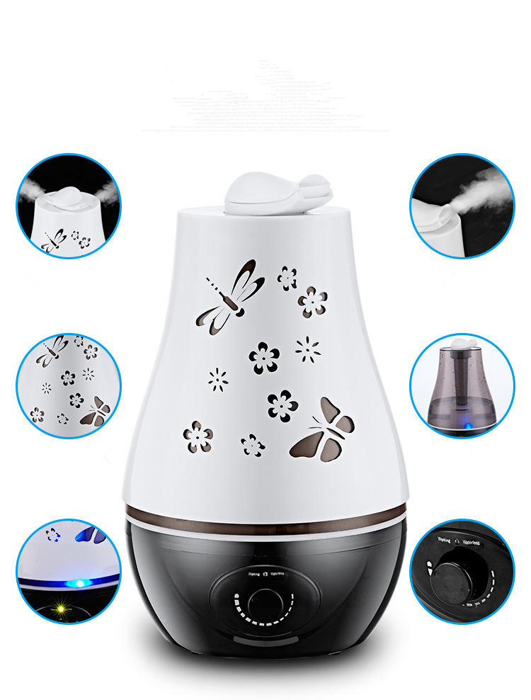 Topf Öle Diffusoren Wasser Basierend Duft Aushöhlung Schmetterling Muster Aroma Diffusor 3L Led Licht Farbwechsel Aroma Diffuse