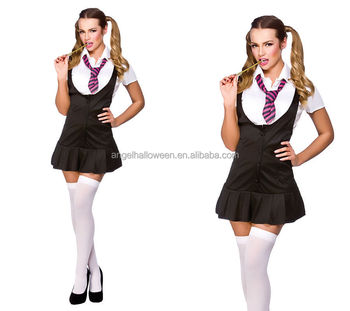 Naughty school girl ladies fancy dress costume sexy outfit with fashion design AGC3366