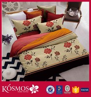 KOSMOS home textile microfiber 9pcs printed bedding set comforter brands