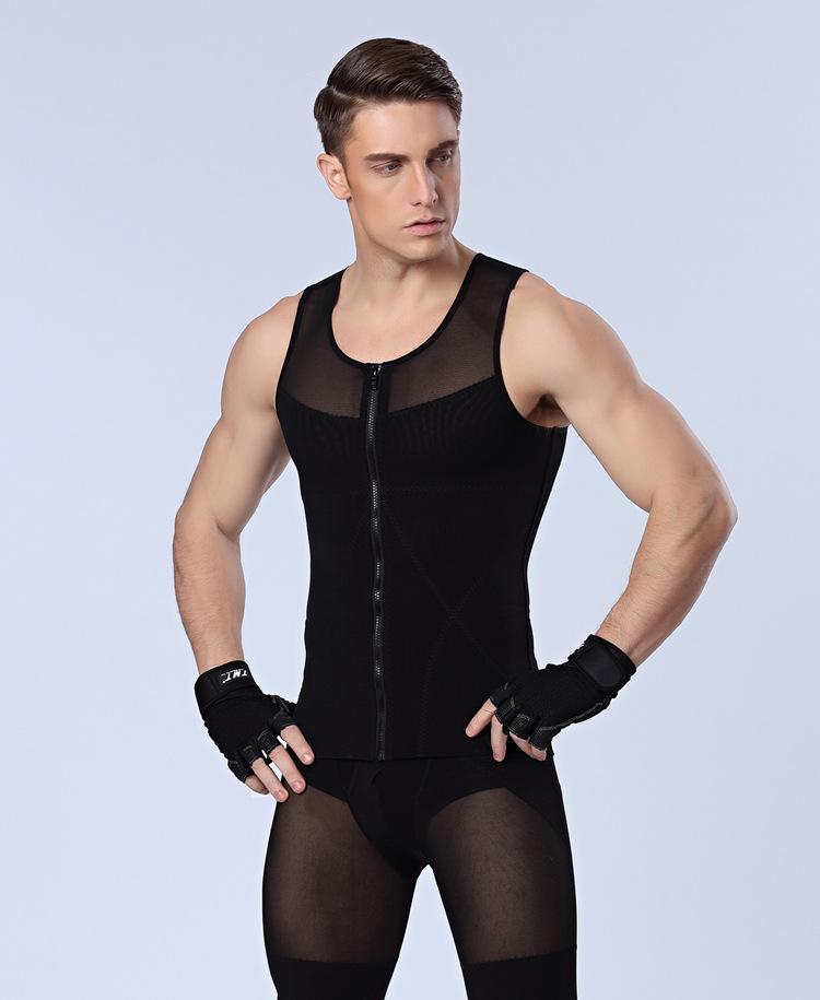 b4113475a8068 2019 PRAYGER  Male Sexy Men Slimming Boob Shaper Seamless Zipper ...