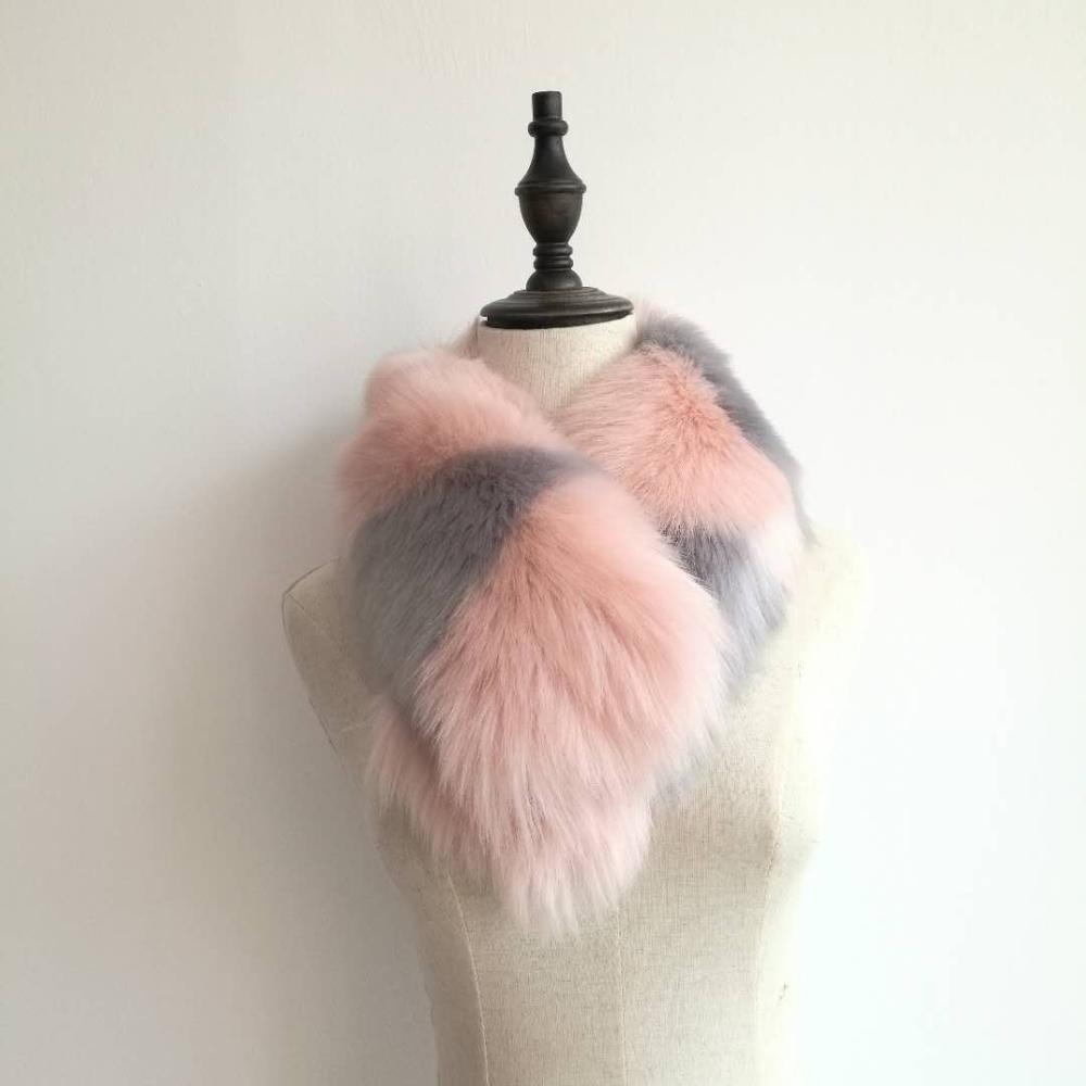 Polyester artificial wool detachable coats fake fur collars