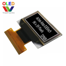 0.83 inch white Soldering type 28 pin 96 x 39 resolution oled display