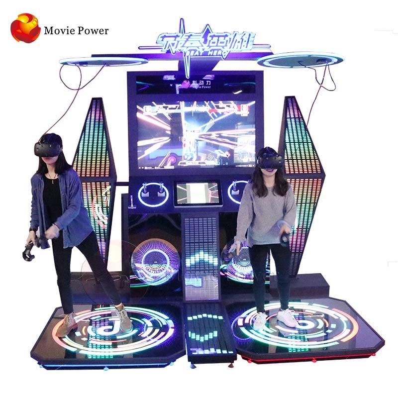 Virtaul واقع ماكينات اللعب باستخدام النقود المعدنية VR الرقص ممر لعبة آلة المنافسة لمركز لعبة للأماكن المغلقة