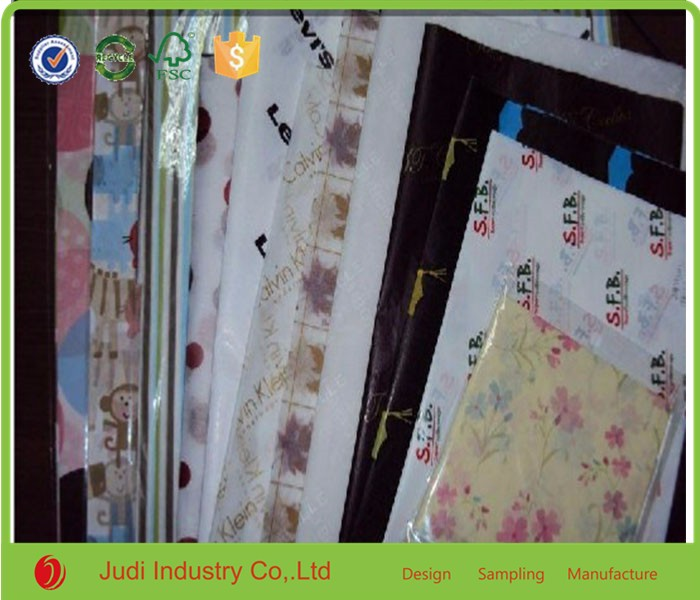 Factory Wrapping For Clothes Custom Packaging White Tissue Paper with logo