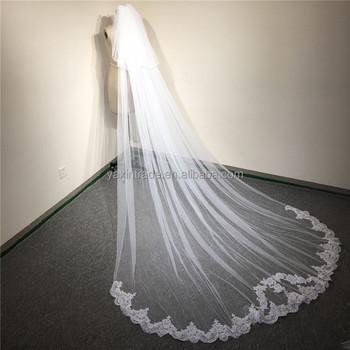 23f0b2295 3 metros de largo de novia velo de boda con peine encaje con doble capa de