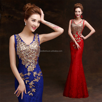 Dark blue Evening / Formal Dresses sequin evening gowns Evening Party Dress
