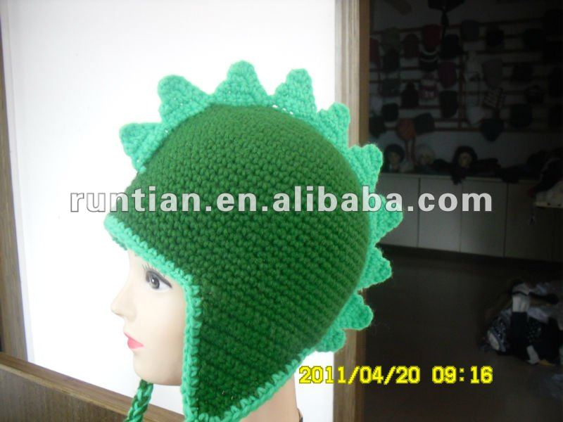 Crocheted Mano Del Cabrito Dinosaurio Sombrero Animal - Buy Niños De ...