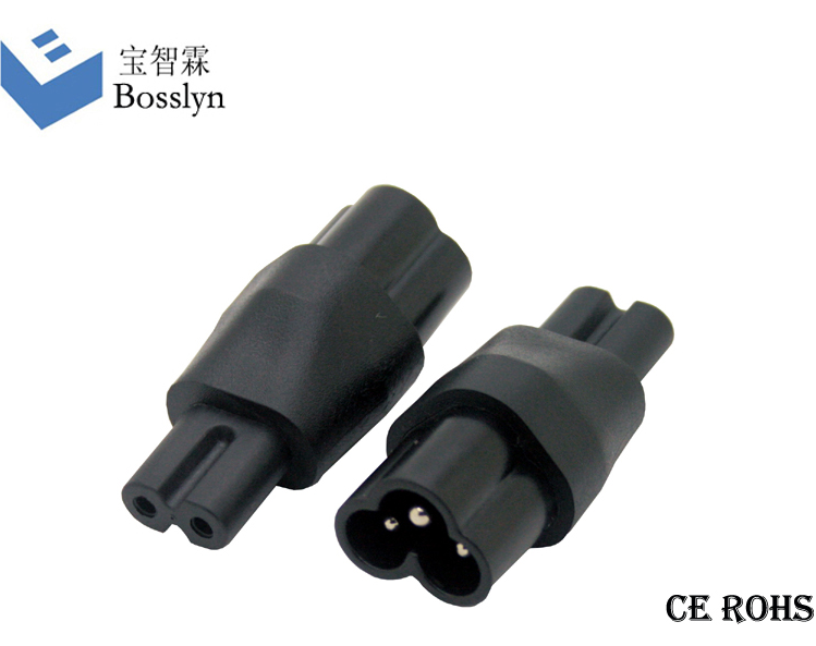 High Level IEC 320 c5 connector/IEC 320 C6 to C7 adapter/female to male electrical plug adapter