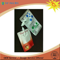 custom printed food grade material bag pouch liquid detergent stand up pouches / stand up spout bags