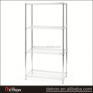 Adjustable DIY plastic coated wire shelving