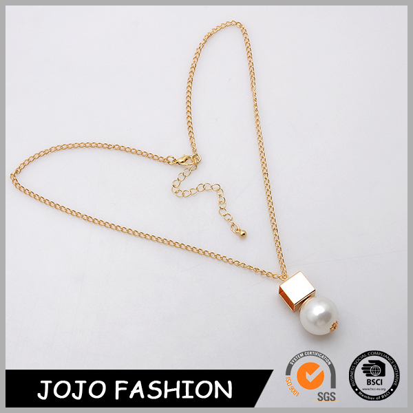 New model fashion gold or silver chains jeweley with pearl pendant necklace