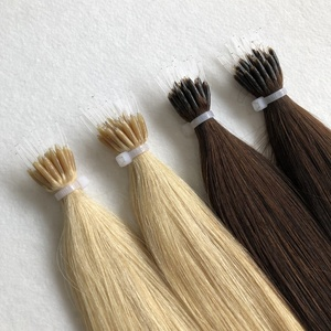 New products european remy human hair ash blonde hard plastic stick nano ring hair extension