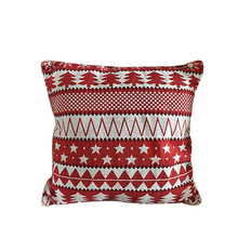 Reasonable price Christmas red chair seat pads cushions jacquard cushion pillow cover