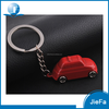 Promotional red car shape 3d pvc keychain