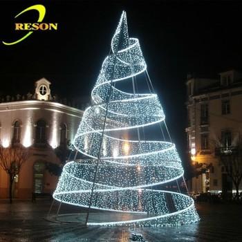 pretty decoration white christmas tree spiral