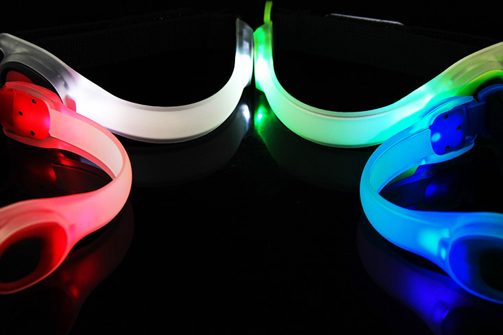 Bike Bicycle LED Safety Reflector Belt Strap Armband Warning Light
