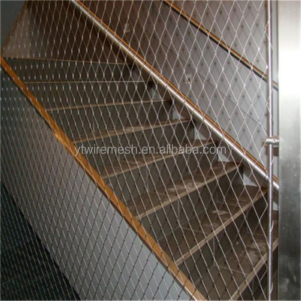 Architectural X-tend Aisi316 Wire Rope Net For Staircases