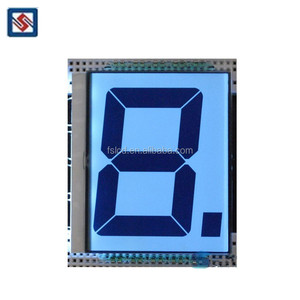 TN Type Positive Transparent Lcd Display 1 Digit 7 Segment Lcd Panel Small Customized Lcd Module