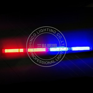 cob led lamps warning rgb bar police car light flashing remote control