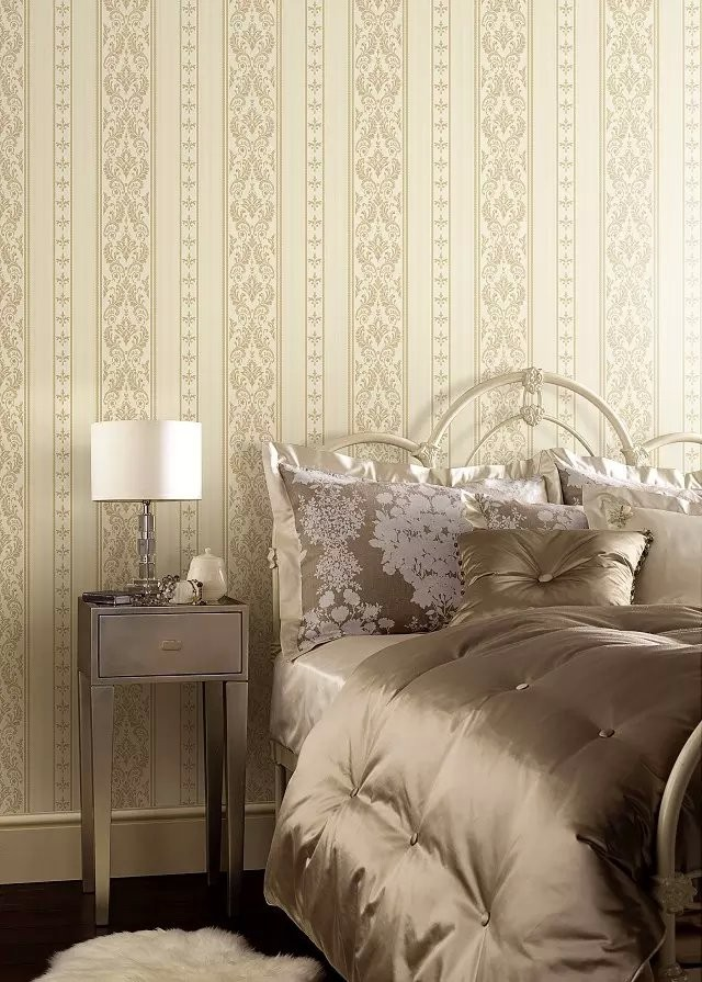 Yellow White Stripe Lines Vinyl Damask Wallpaper In Bedroom Buy White Vinyl Wallpaper Modern Damask Wallpaper Product On Alibaba Com