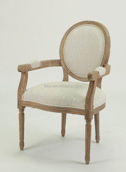 Ordinaire French Style Round Back Fabric Wooden Armchair/restaurant Chair(CH 904 1