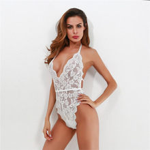 Mature Women Lingerie <span class=keywords><strong>Sexy</strong></span> Hot Transparant Kant <span class=keywords><strong>Bodysuit</strong></span>