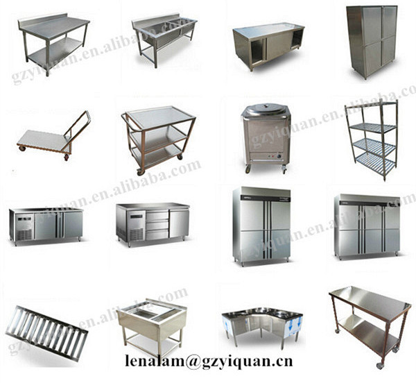 4 Layers Commercial Kitchen Storage Shelf Stainless Steel Wall Over