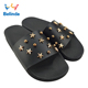 Flat Lady Sandal Black Slide Shoes Fashion China Wholesale Sleeper Summer Slipper For Woman