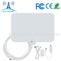 50 Miles Amplified Flat UHF VHF Indoor HDTV Digital Antenna For ATSC/DTMB/ISDB/DVB-T TV