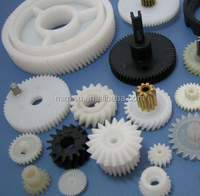 Plastic worm gear miniature spur gear set