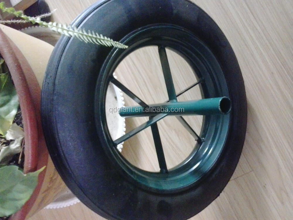 "Good quality china cheap price 14""x4"" solid rubber powder wheel"