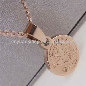 The new fashion in Europe and the united fan shield pendant necklace 14 k rose gold jewelry wholesale
