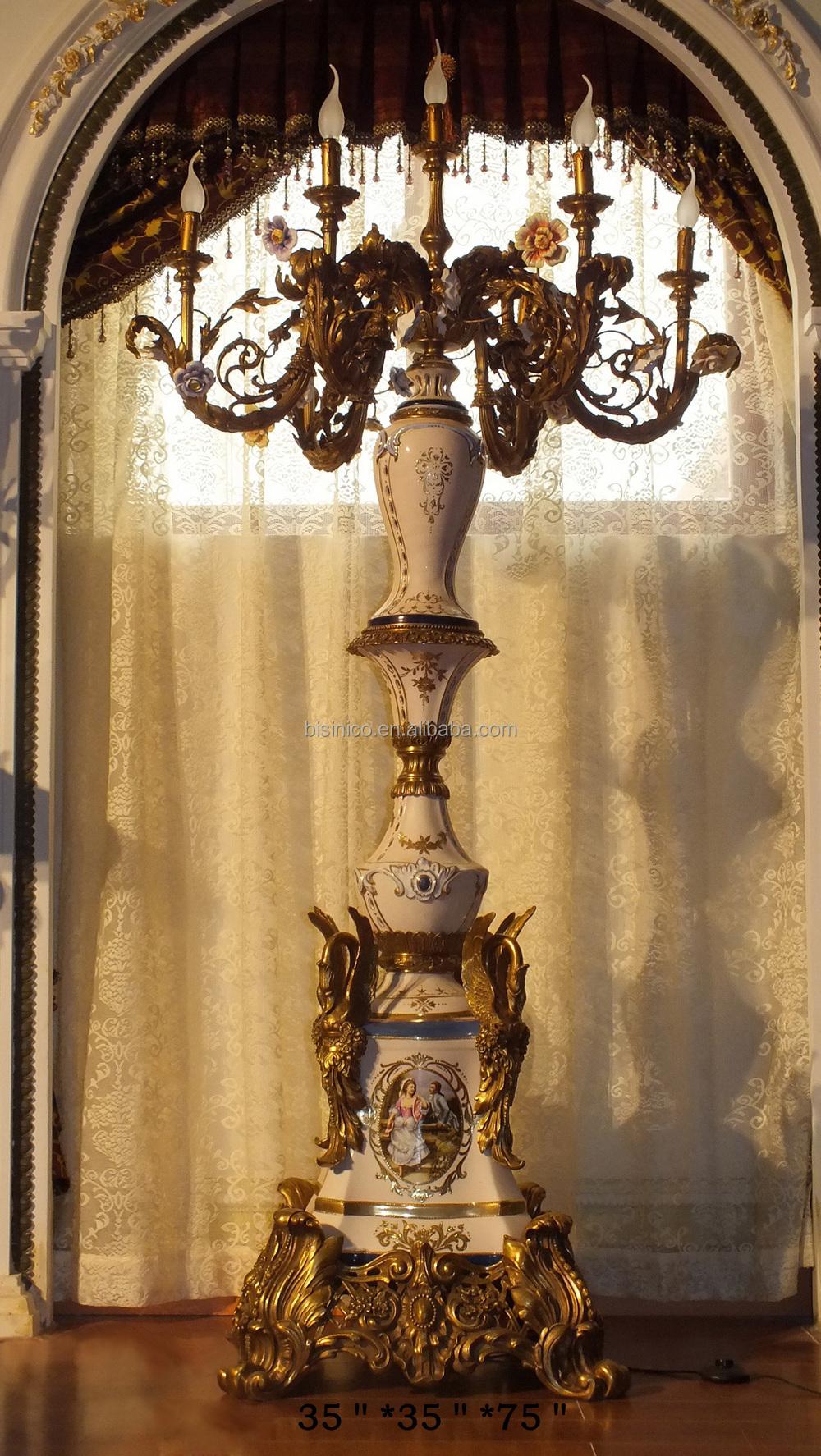 de estilo barroco de lujo de porcelana decoracin del hogar lmpara de pielmpara de