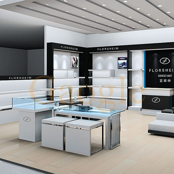 commercial perfume cosmetics bangle jewelry watch glass store design display cabinet showcase furniture for shoe store
