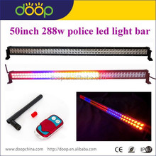 Color llevó la luz de emergencia del coche, asesor de tráfico flash estroboscópico advertencia coche color led light bar para policia