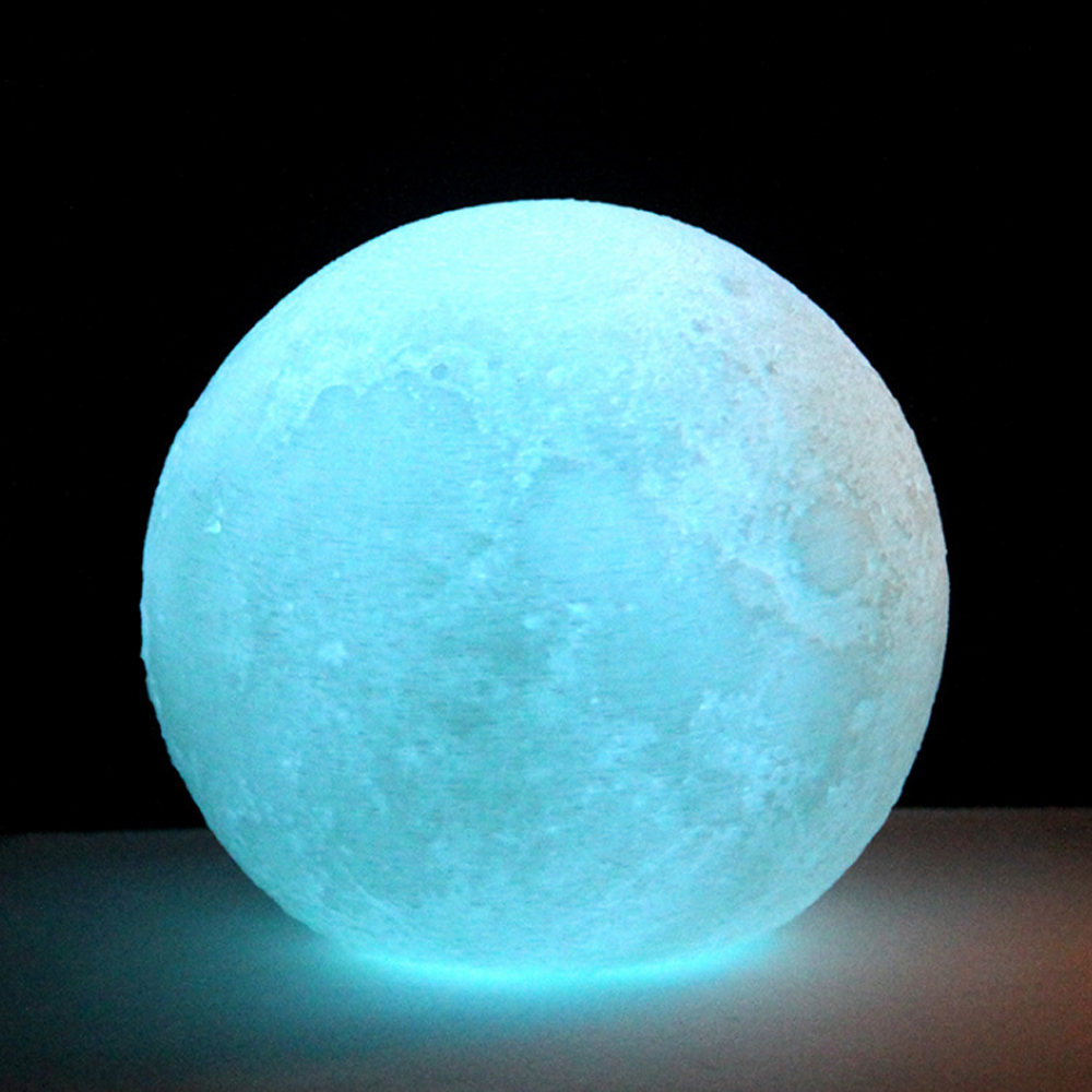Factory Direct Sales Bedroom Night Light Touch Control USB Charging 4 Colors 3D LED Lunar Moon Light