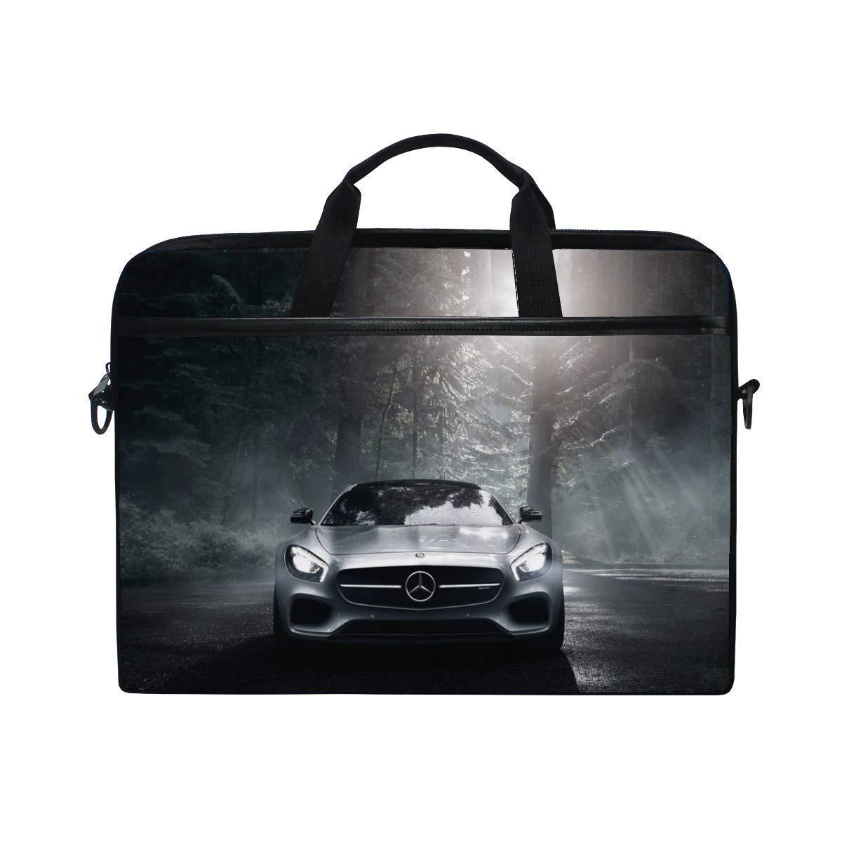 Get Quotations · Mercedes Benz Mercedes Amg Front View Silver Wood Laptop  Shoulder Messenger Bag Case Sleeve for 14 4c90d2dac520b