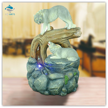 decorative items for living room wolf water fountain home decorative items for living room wall papers decors