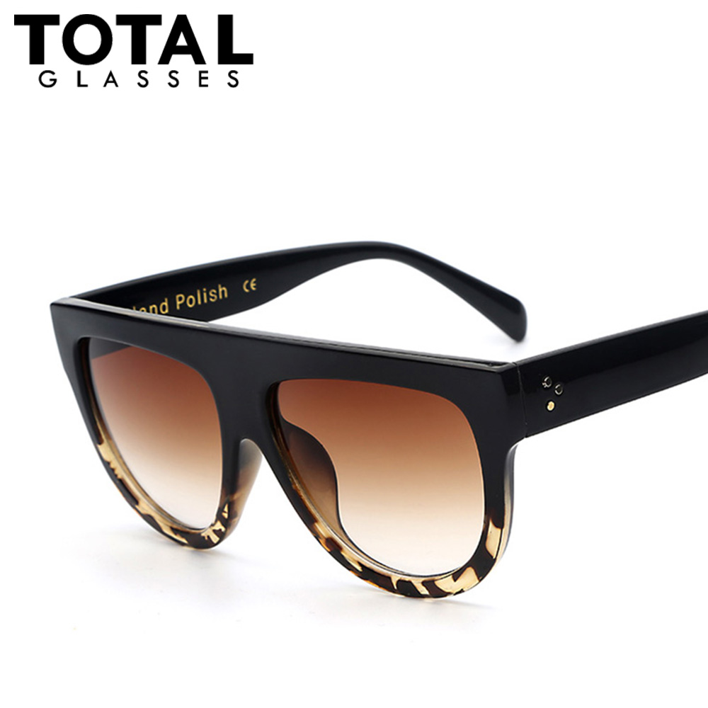 totalglasses oversized flat sunglasses women fashion lunette de soleil vintage men brand. Black Bedroom Furniture Sets. Home Design Ideas