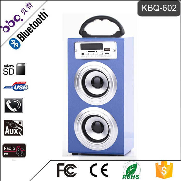 BBQ KBQ-602 Portable Bluetooth Wood Speaker with USB/TF/FM/MMC/Reader Mode