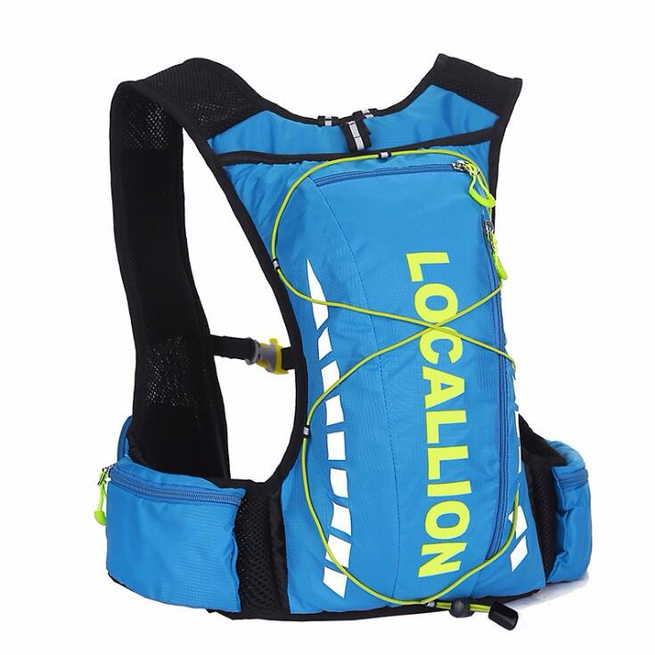 High quality stylish lightweight nylon reflective hydration backpack, waterproof cycling backpack with water bladder