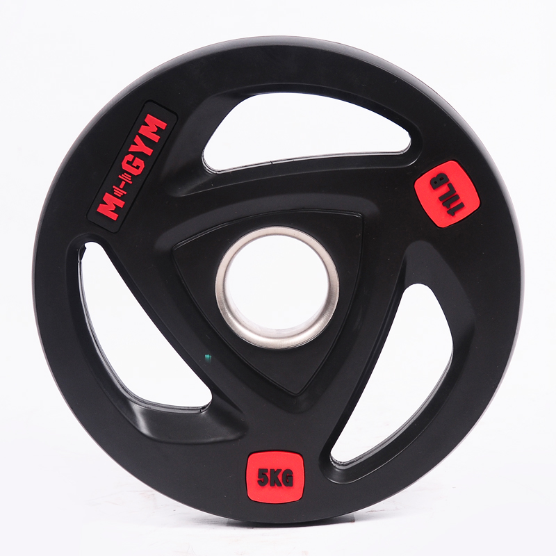 Standard Weight lifting Barbell Rubber Black Bumper Plate